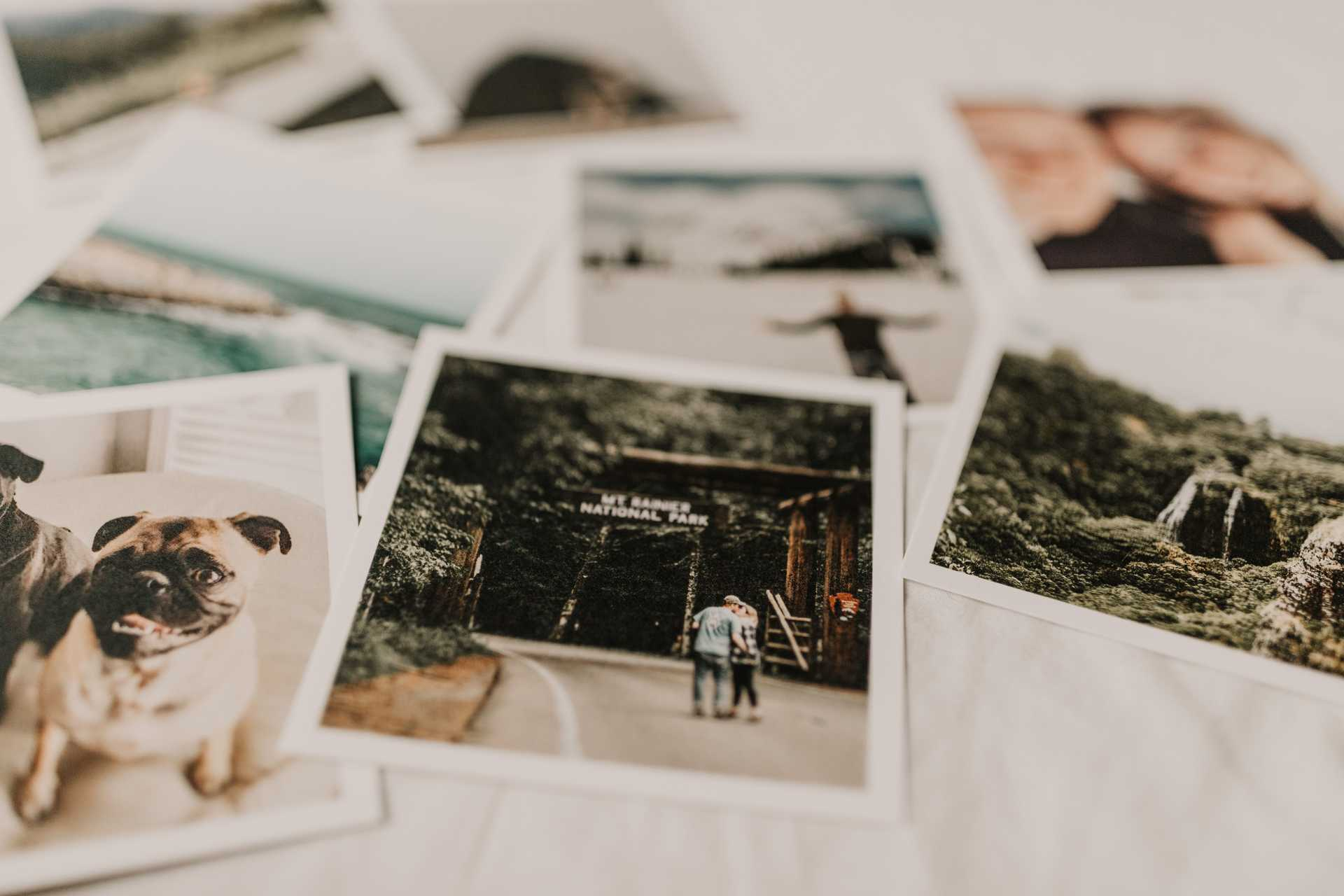multiple polaroid photos