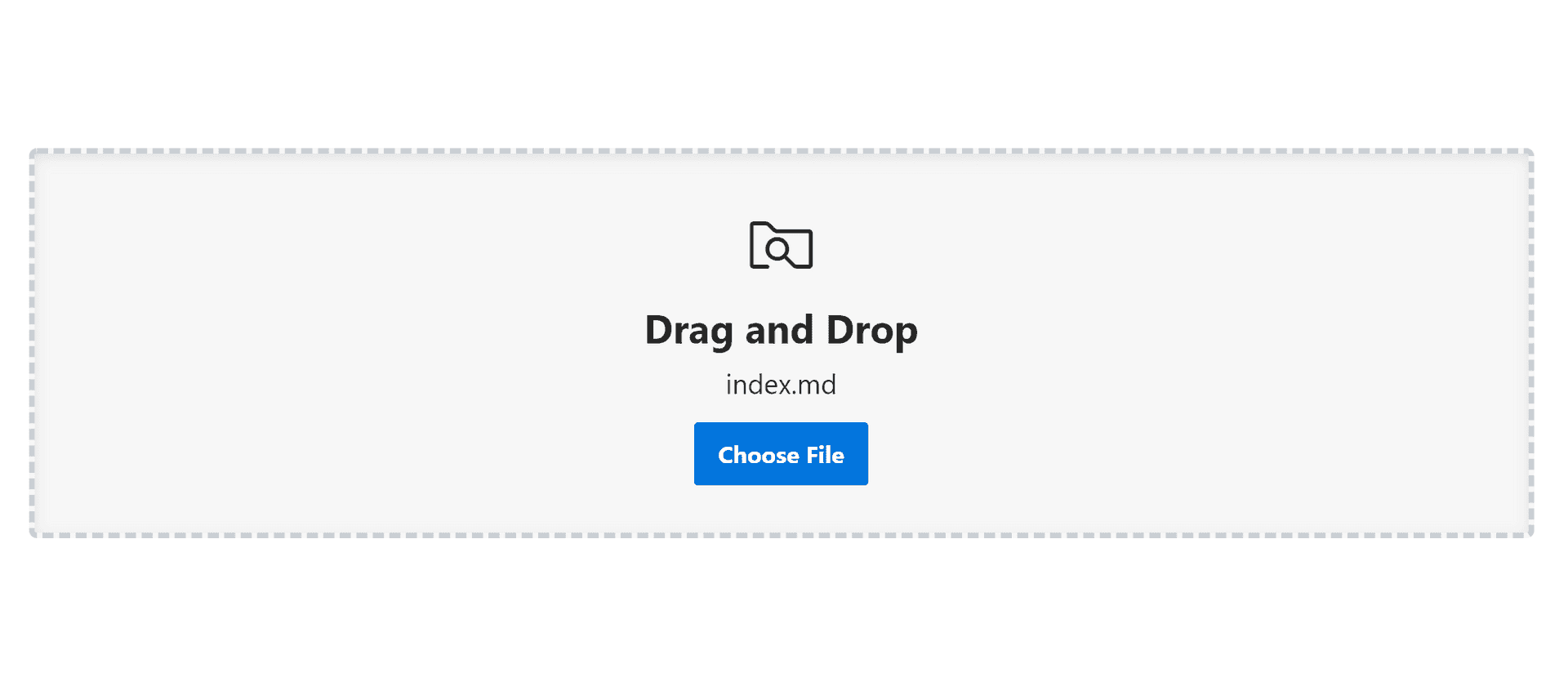 Dropzone with improved UX